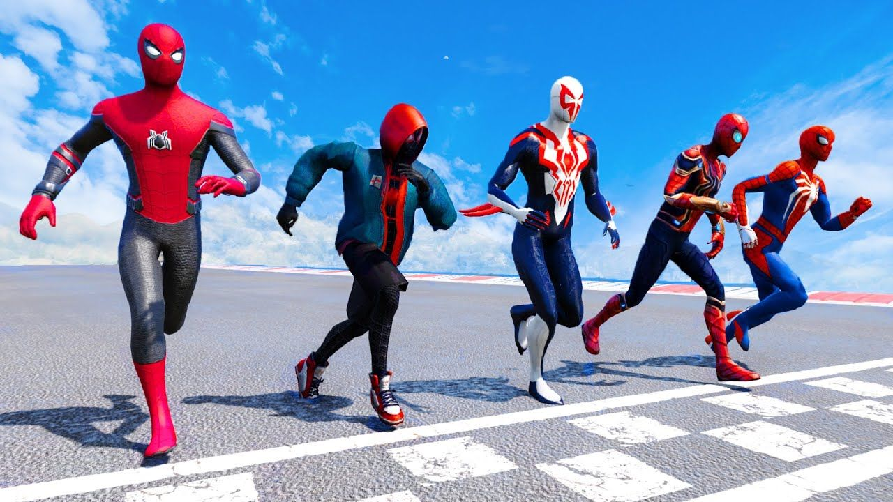 TEAM SPIDERMAN Obstacles Running Contest GTA 5