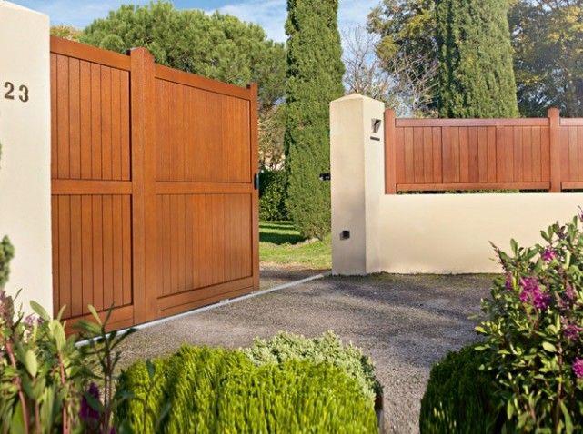 un portail pour tous les styles cour ext rieure pinterest portail bois portail et bois. Black Bedroom Furniture Sets. Home Design Ideas
