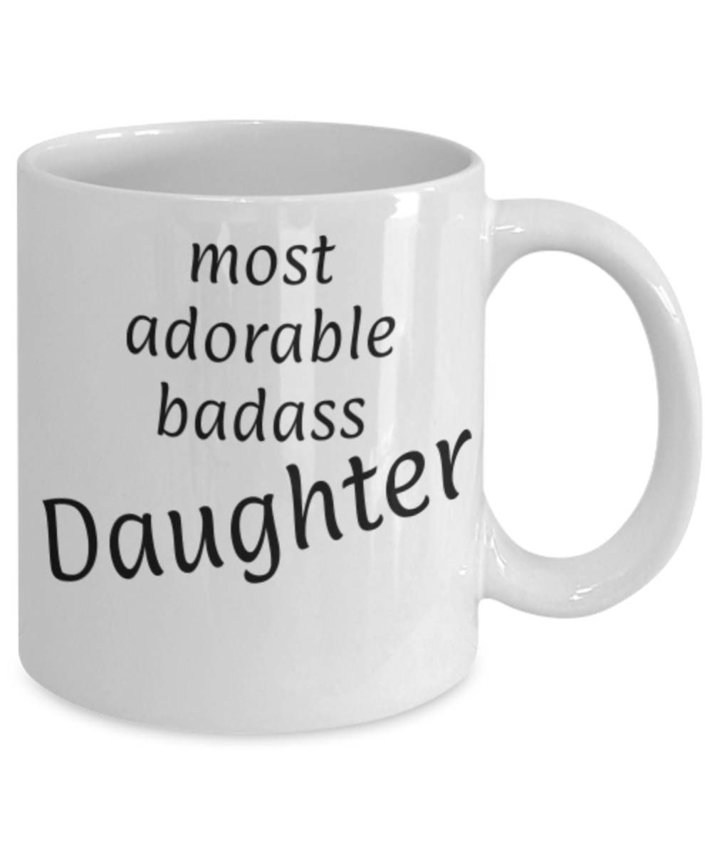 gift for daughter most adorable badass daughter funny coffee mug daughter christmas gift - Christmas Gifts For Daughter