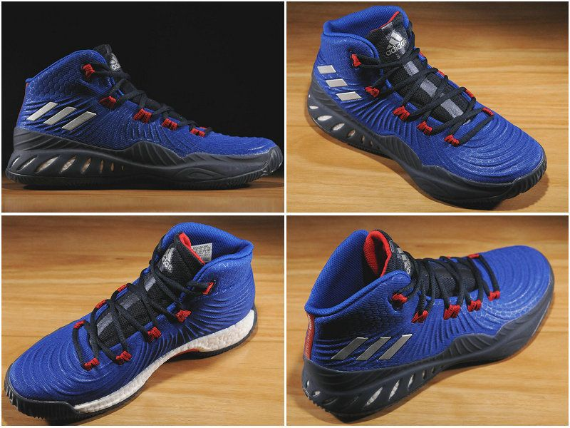 2017-2018 Newest And Cheapest adidas Crazy Explosive 2017 Classic Royal  Metallic Silver Collegiate Navy