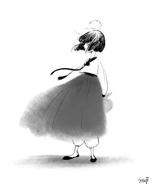 Girl doodle
