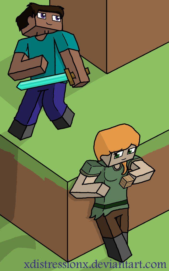 Minecraft Alex And Steve Skin Fan Art Steve And Alex By