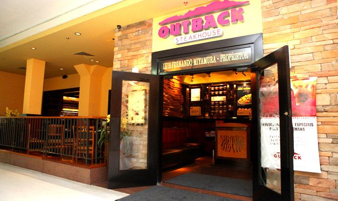 Outback Steakhouse...endearingly called Ouchie Backie (portuguese pronunciation).  It really hits the spot when you are feeling homesick. The hamburgers taste like home, and free refills!!!  http://www.outback.com.br/restaurantes/sao-jose-dos-campos#