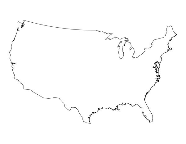 Blank Map of the United States Im using this for a Physical