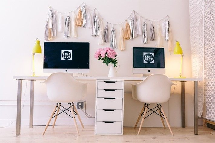 how to decorate a home office for two