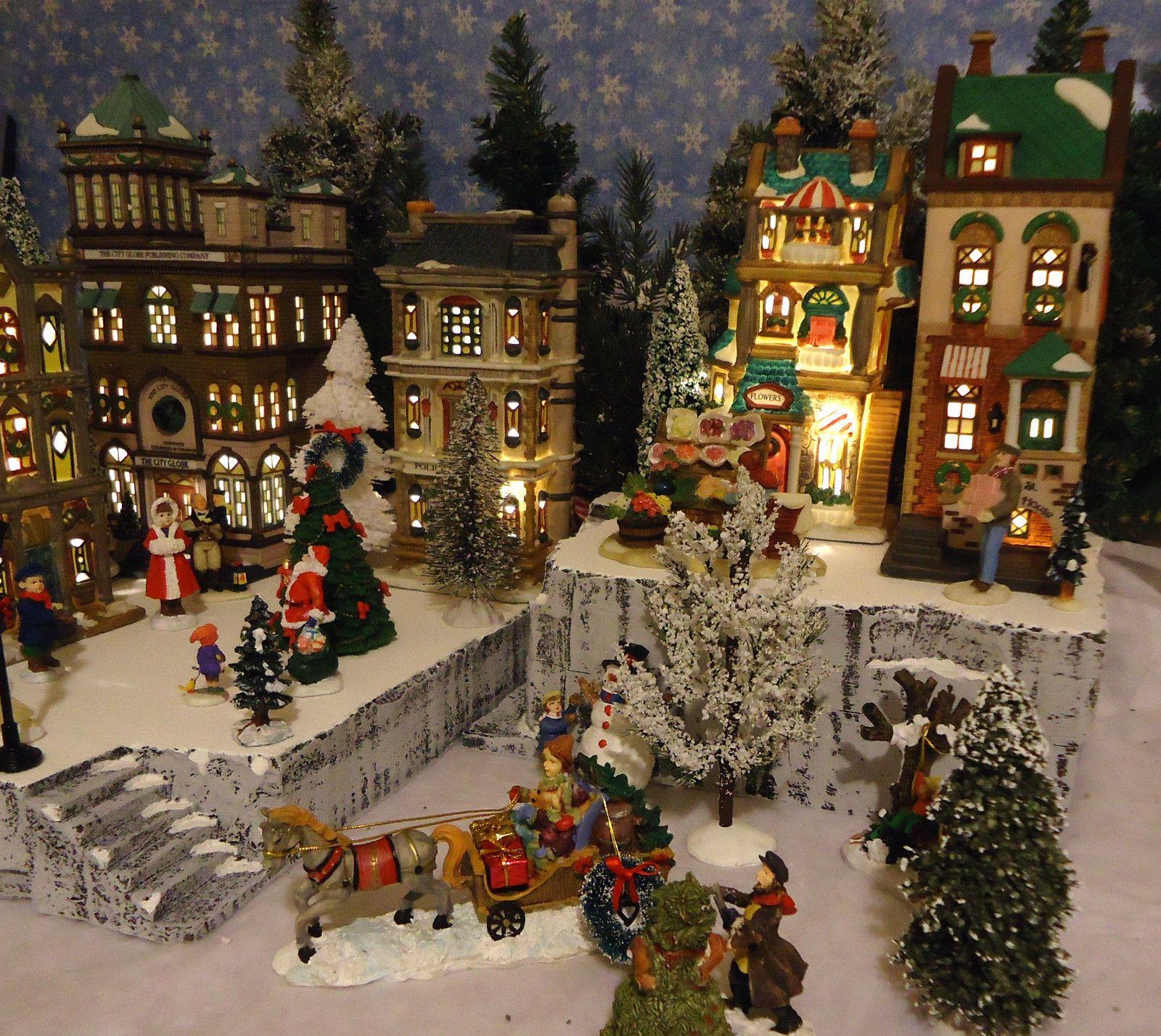Department 56 dickens village display ideas - Christmas Snow Village Display Platform Base Dept 56 Lemax St Nicholas Square Ebay