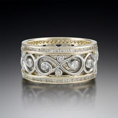 krikawa Google Search double diamond ornate infinity wedding band