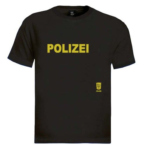 Polizei T-Shirt Brand new 100% cotton standard weight t-shirt as shown in the picture. Express yourself through our t-shirts and make a statement. Add this item to your shopping cart by choosing the size and color you like. - See more at: http://www.greenturtle.com/Army/Security/Polizei-T-Shirt-1592/#sthash.XJHCwFl3.dpuf