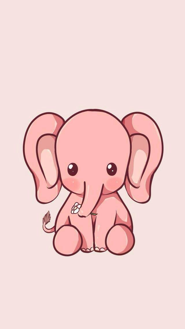 Elephant Wallpaper In 2019 Cute Elephant Drawing Kawaii