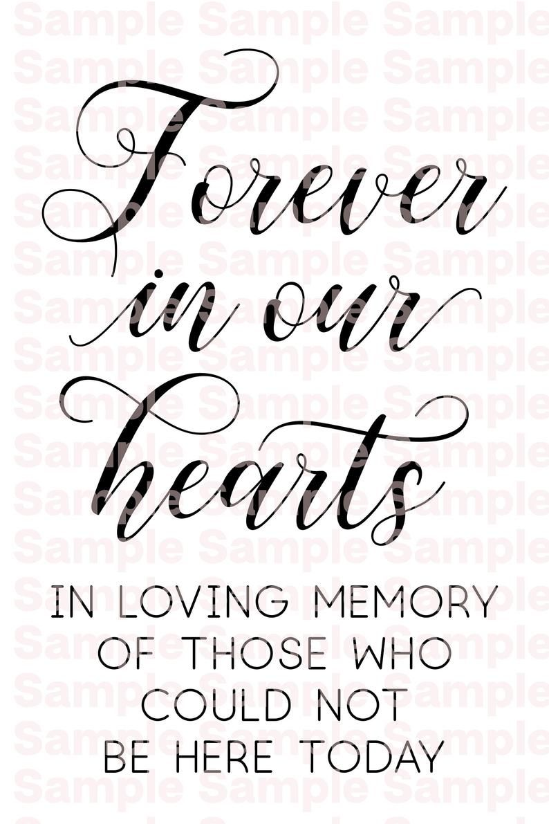 Printable Forever In Our Hearts Digital Pdf Download Png Svg Etsy In Loving Memory Quotes Memories Quotes Clip Art Borders