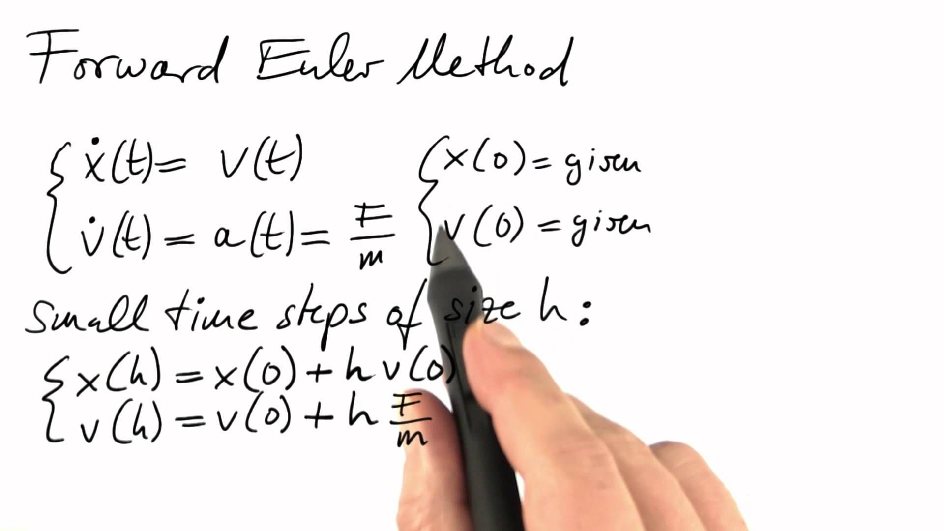 Forward Euler Method Differential Equations In Action Differential Equations Equations Calculus [ 1080 x 1920 Pixel ]