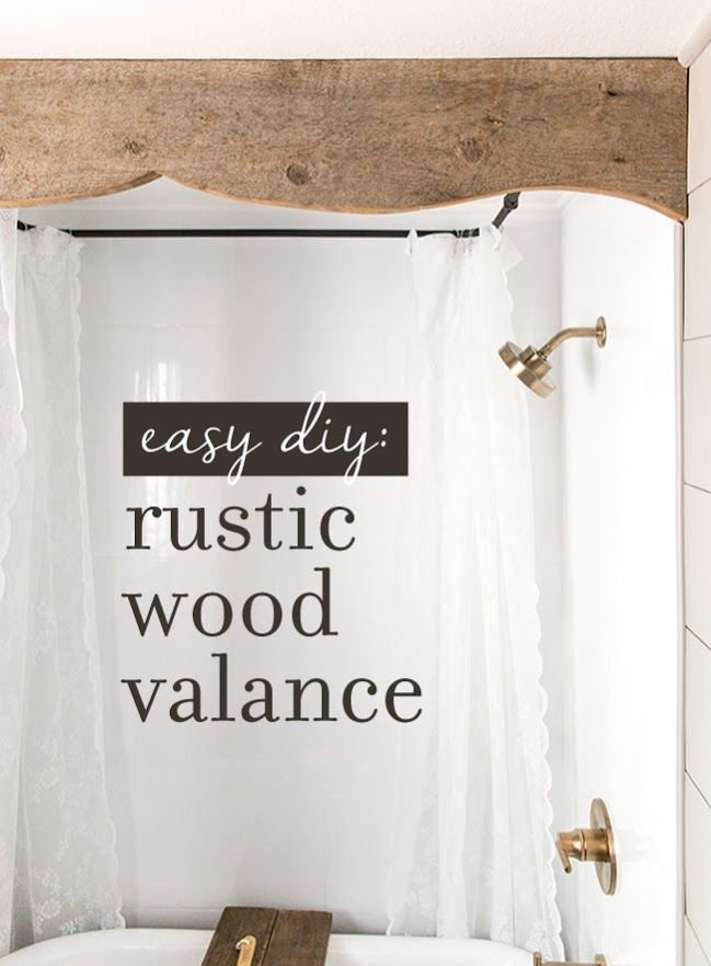 rustic wood projects wood valance