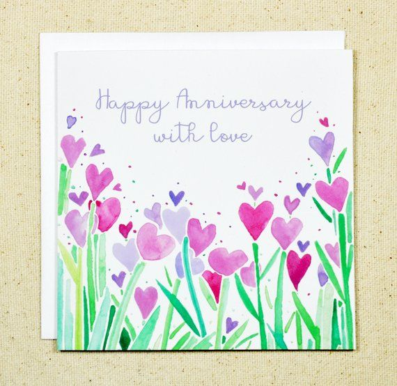 personalized anniversary engagement or valentines card