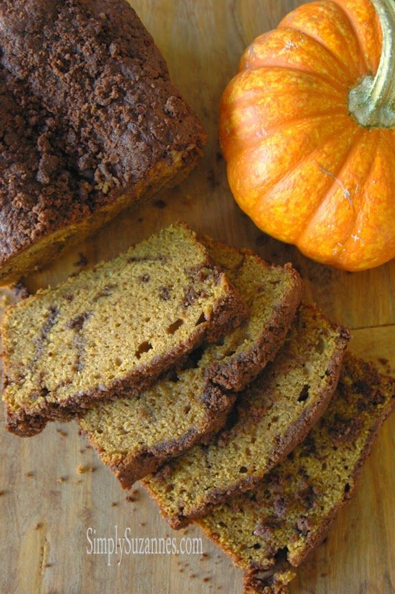 Simply Suzanne's AT HOME: cocoa streusel pumpkin bread