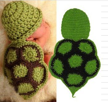 Foto Shooting Neugeborene Baby Kostüm Tier Schildkröte A