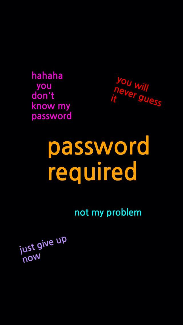 Password required #lockscreenwallpaper