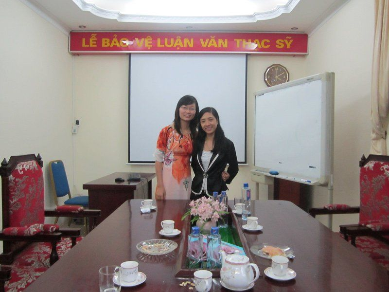 With my best MBA classmate, after protecting our thesises, Hanoi, Vietnam, 2011
