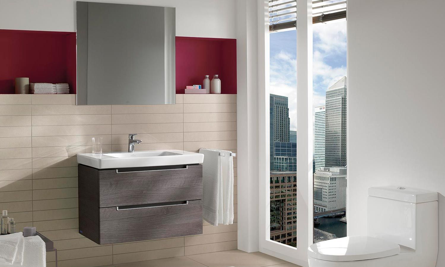 villeroy boch subway 20 vanity unit oak graphite - Villeroy And Boch Bathroom Cabinets