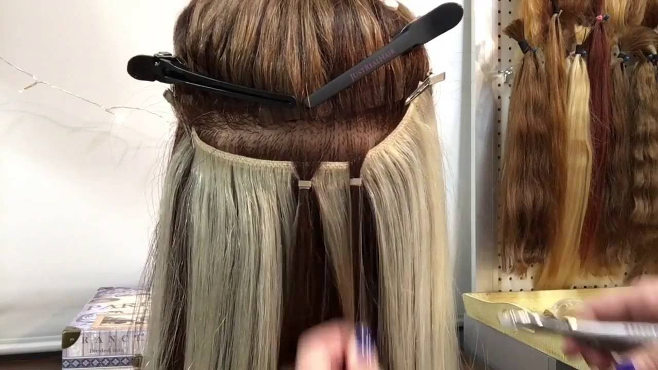 No Sew Bead Weft No Braid Quick Weft Extensions Beaded Hair
