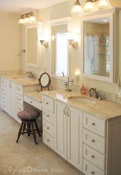 Bathroom Vanity With Makeup Counter Granite Bathroom Vanity