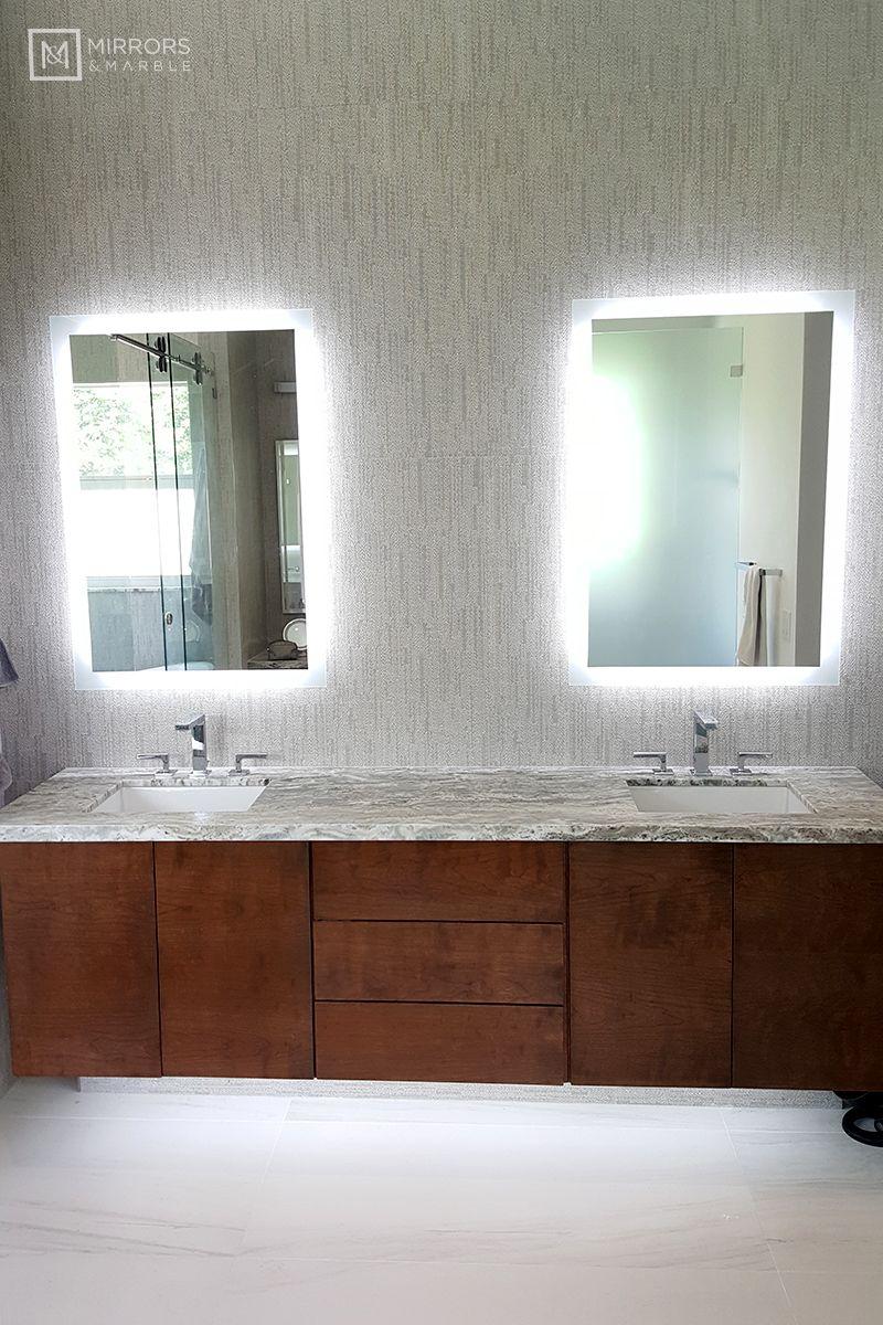 Side Lighted Led Bathroom Vanity Mirror 28 Wide X 40 Tall