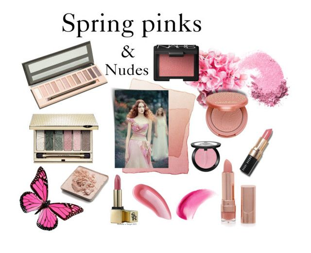 """""""Spring pink & nudes"""" by veronababy ❤ liked on Polyvore featuring beauté, NARS Cosmetics, tarte, Clarins, Yves Saint Laurent, Sunday Riley, Forever 21, Bobbi Brown Cosmetics, Trish McEvoy et Sephora Collection"""