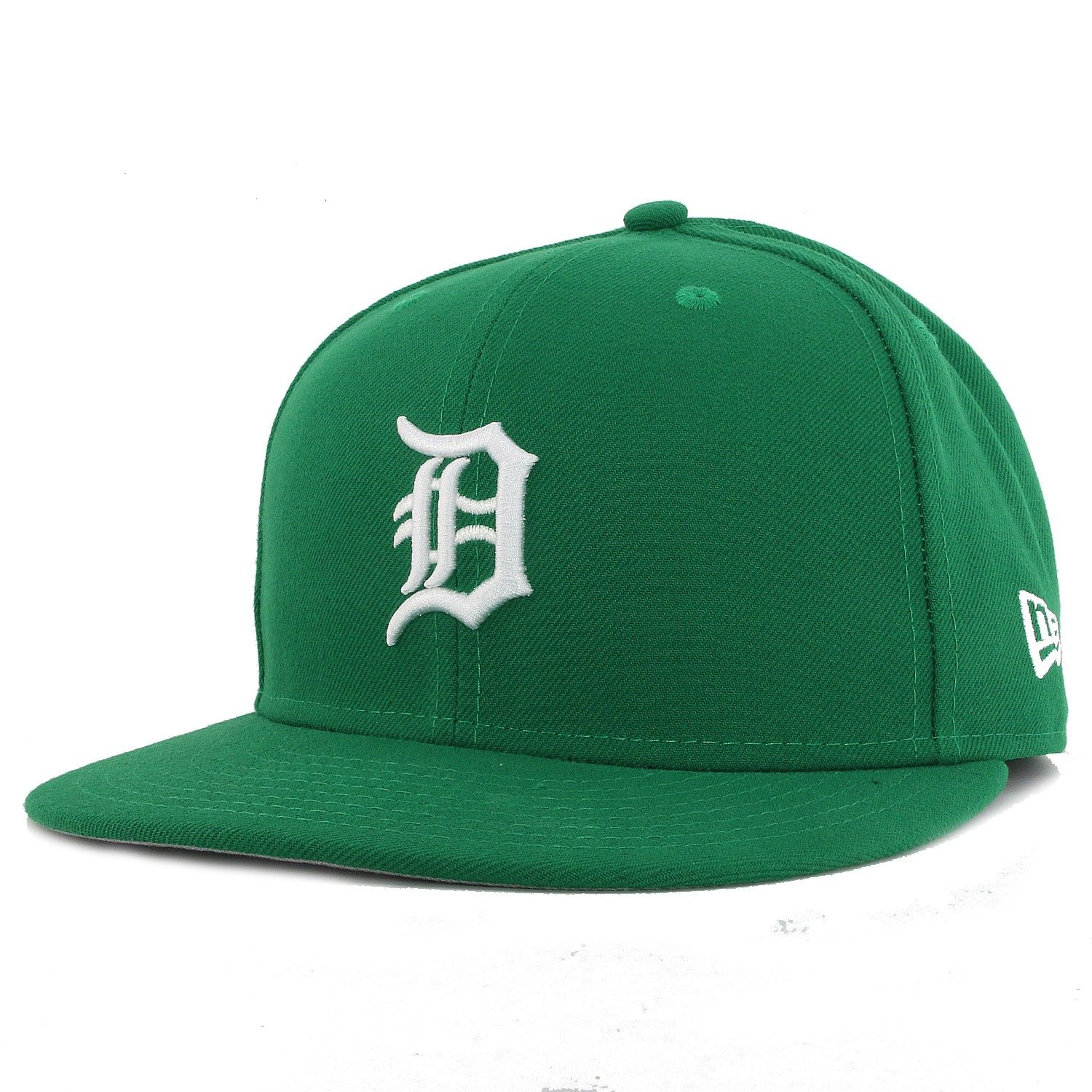 Detroit tigers new era 59fifty kelly green fitted cap