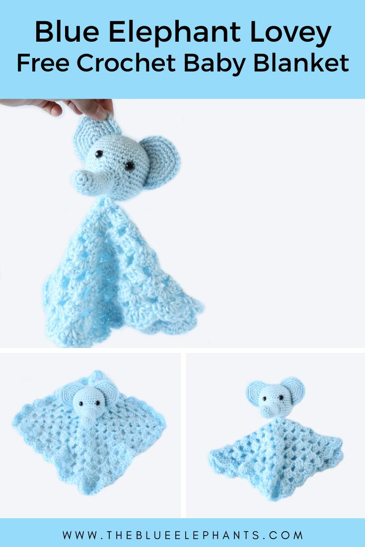 Elephant Lovey: Free Crochet Baby Blanket Pattern
