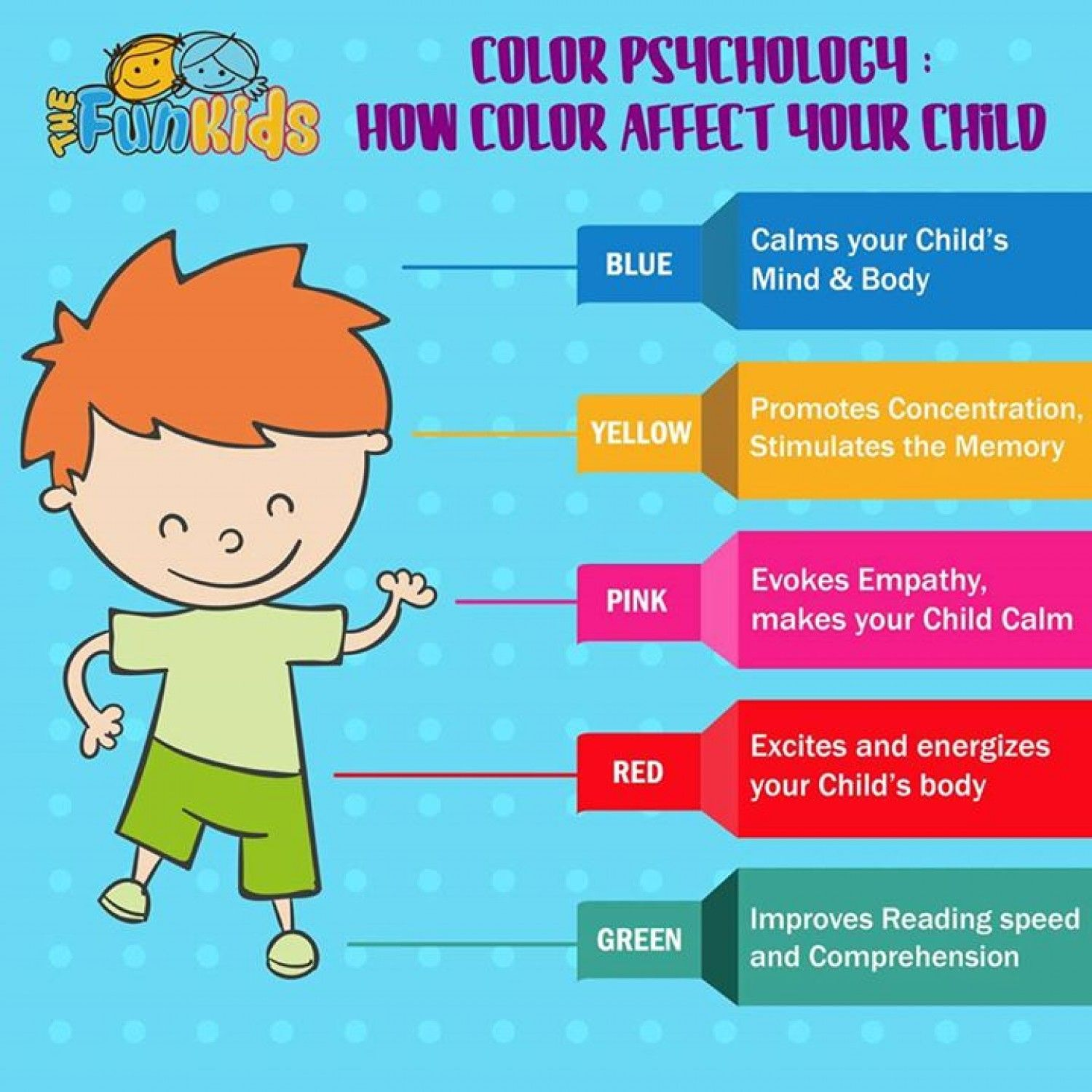 color psychology - the effect of color on your child infographic