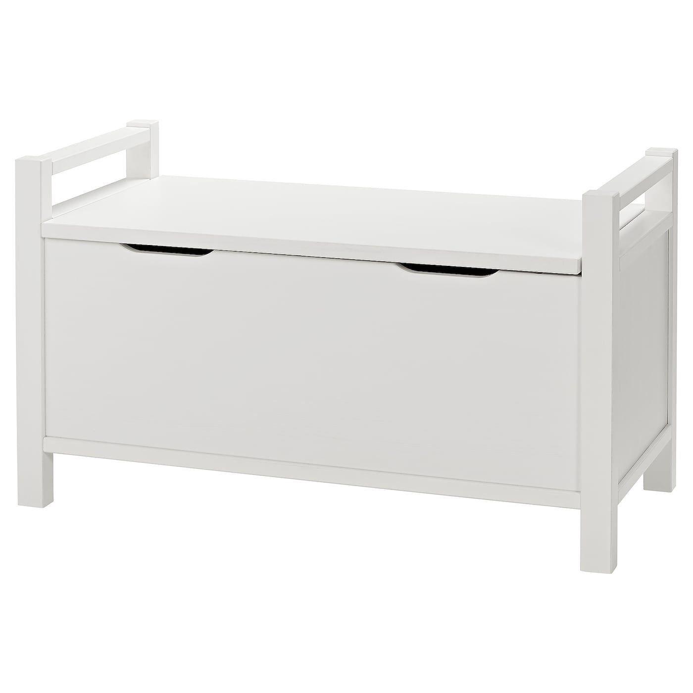 Hemnes Storage Bench White Stain White Ikea 1000 In 2020 Storage Bench Hemnes Bench With Storage