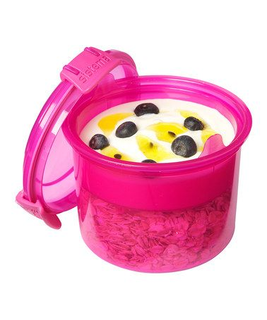 Take a look at this Pink BreakfasttoGo Container Set