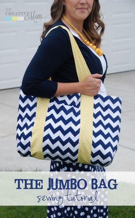 The Jumbo Bag {sewing tutorial} | The Creative MomThe Creative Mom ...
