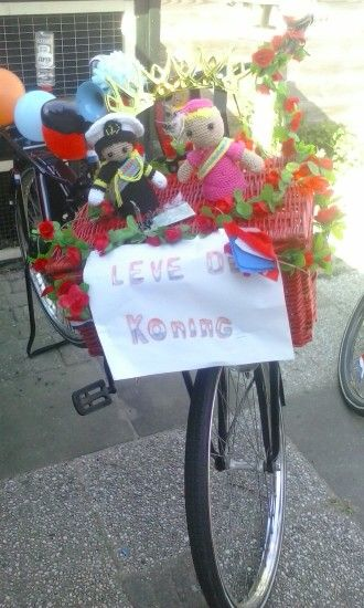 Versierde fiets koningsdag