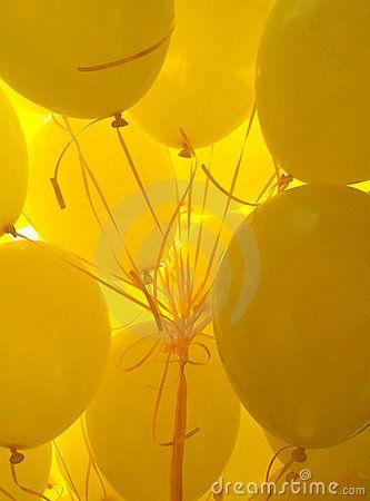 yellow balloons on pinterest