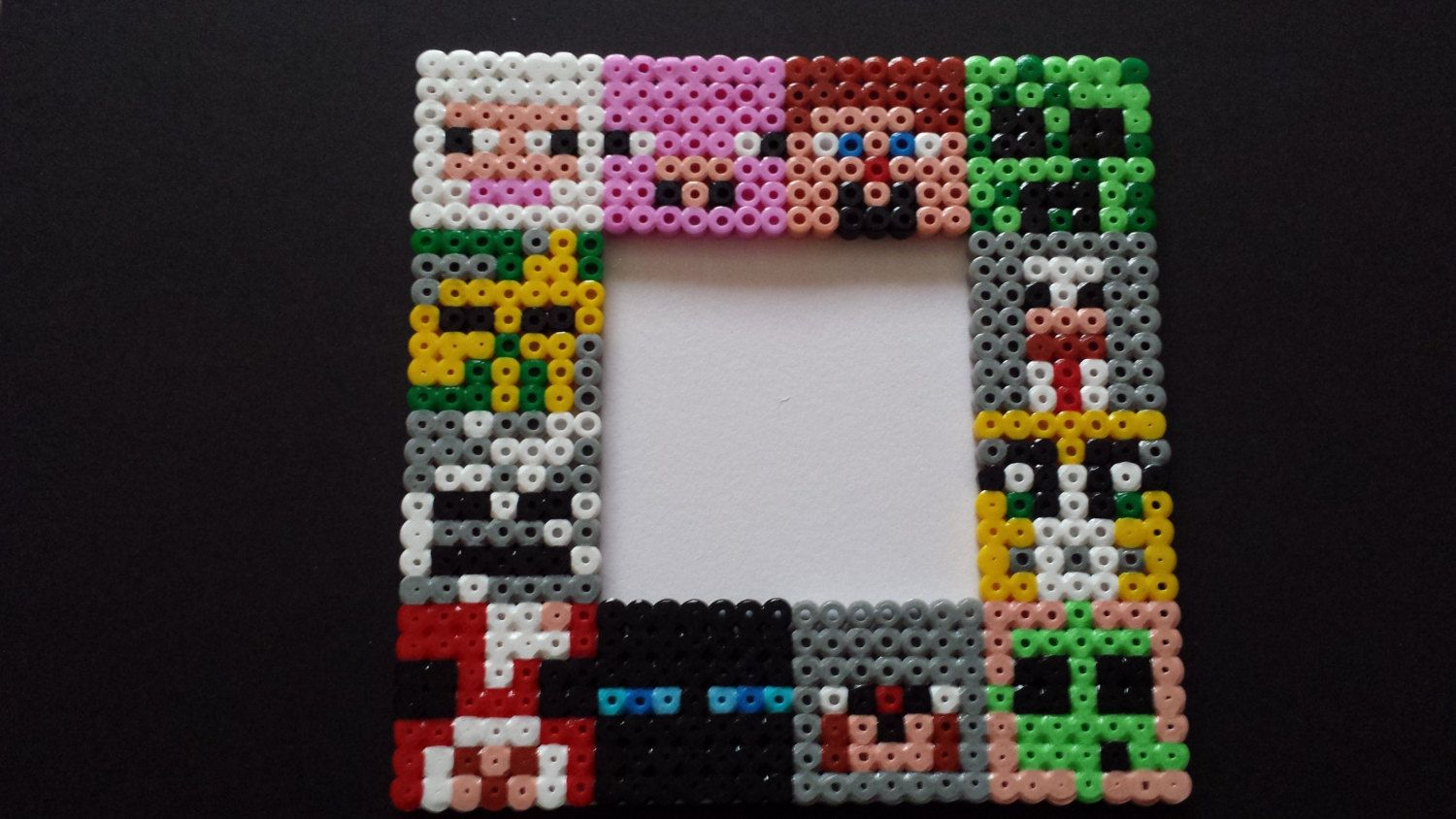 Minecraft character picture frame using Hama beads | Minecraft ...