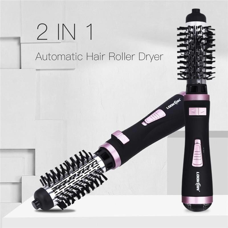 Professional Hair Dryer Curler Comb 2 In1 Multifunction Hair Styling Tools Hairdryer Automatic Rotating H Rotating Hair Brush Hair Dryer Brush Cheap Hair Dryer