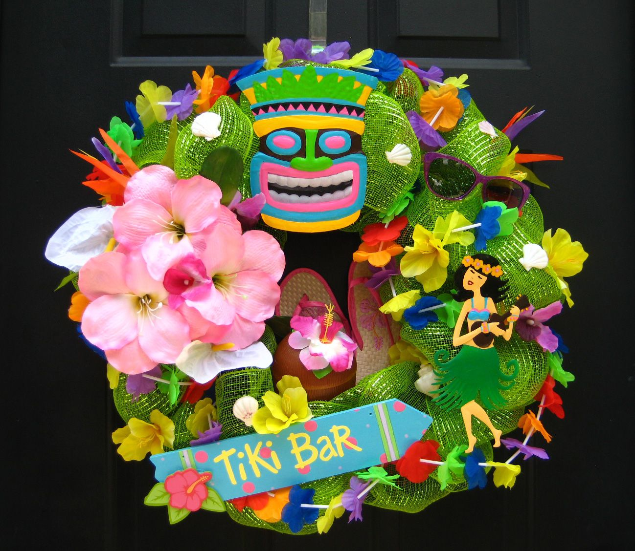 how to make a hawaiian head wreath