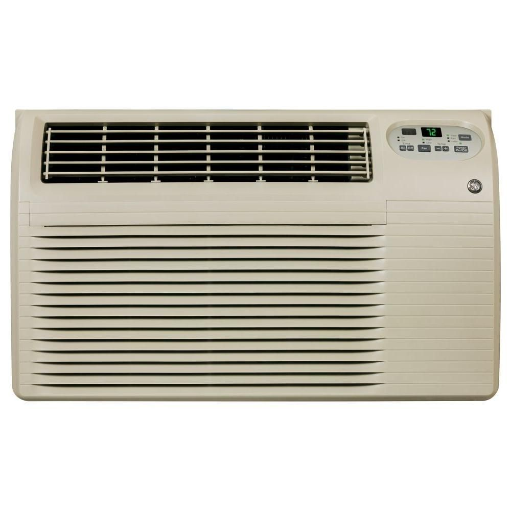 Ge 12 000 11 800 Btu 230 208 Volt Through The Wall Air Conditioner With Heat And Remote Ajeq12dcf The Home Depot Wall Air Conditioner Room Air Conditioner Air Conditioner