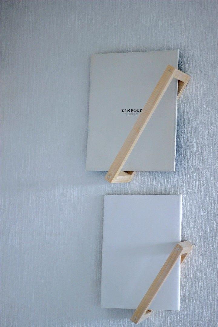 枠に本? 超シンプルな壁掛けブックシェルフをDIY!