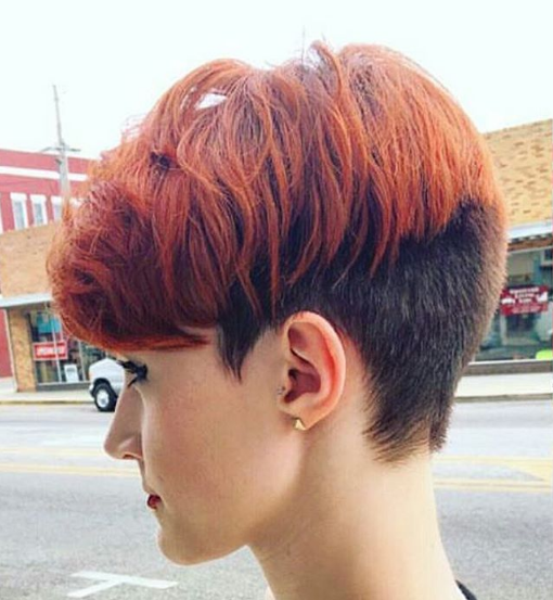 Frisuren mittellang 2 farbig