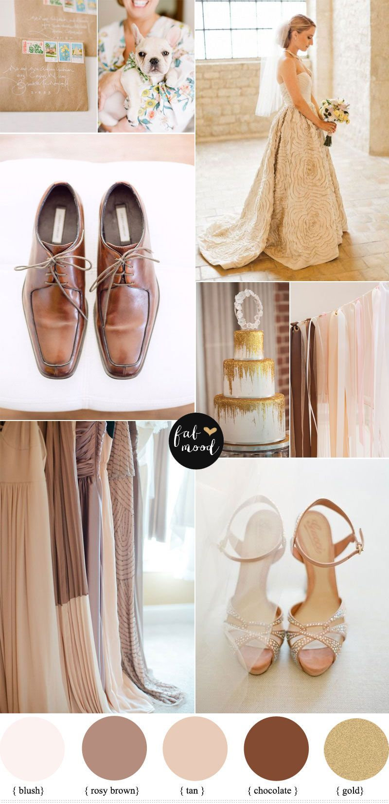 Blush Brown And Gold Wedding Perfect For Autumn
