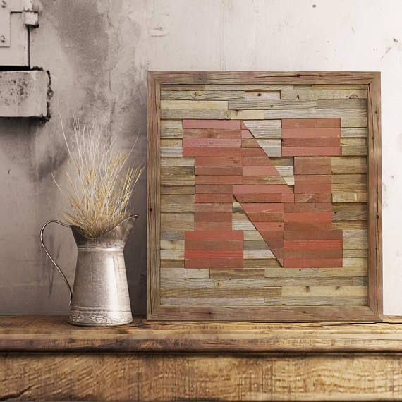 Nebraska Huskers Wall Art Reclaimed Wood Rustic Decor Available At Www Etsy Com Shop Tkreclaimedart Reclaimed Wood Wall Reclaimed Wood Wall Art Wood Wall Art