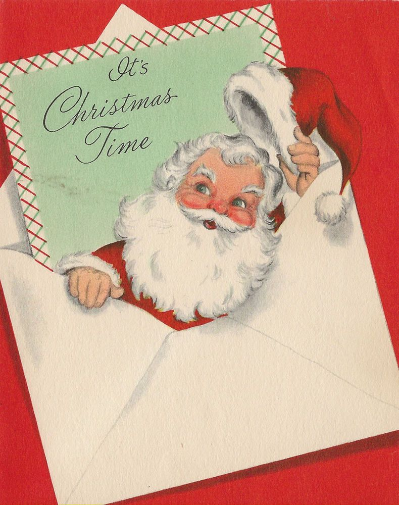 Details about Vintage Christmas Card UNUSED NOS A Letter From Santa ...