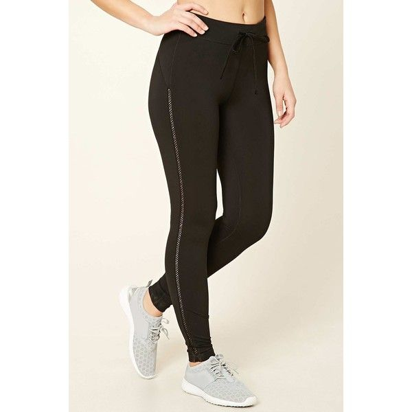 Forever21 Active Ladder Cutout Leggings ($16) ❤ liked on Polyvore featuring pants, leggings, black, cutout pants, legging pants, forever 21 leggings, forever 21 pants and cut out leggings