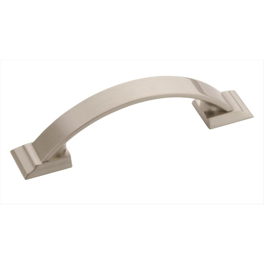 Candler 3 in. (76 mm) Center Satin Nickel Cabinet Pull (10-Pack)