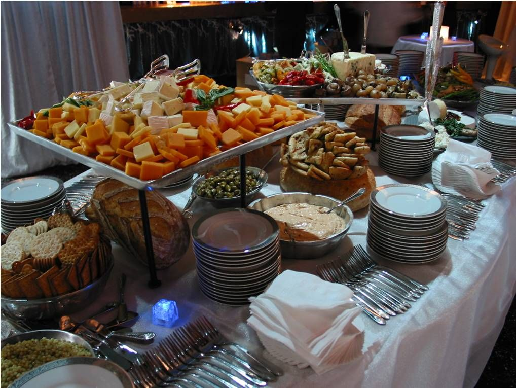 Receptions Food Displays And Prime Time On Pinterest: ... Food Beverage Table Ideas Home