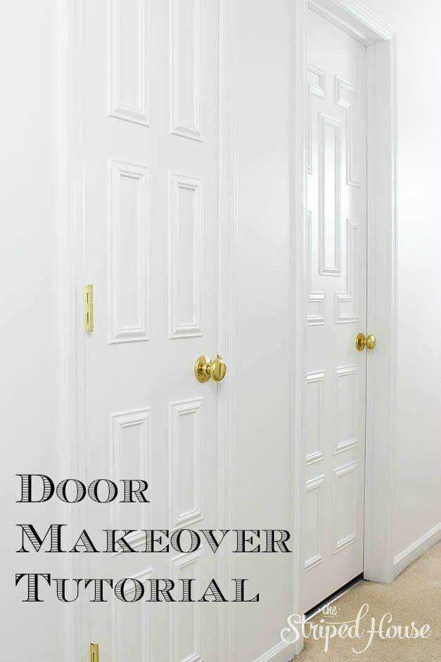 INTERIOR DOOR MAKEOVER USING MOULDING. Flur DekorationInnendekorationTür ...