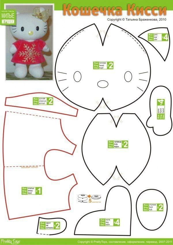 Hello Kitty | crafts | Patrones, Muñecas, Trapillo
