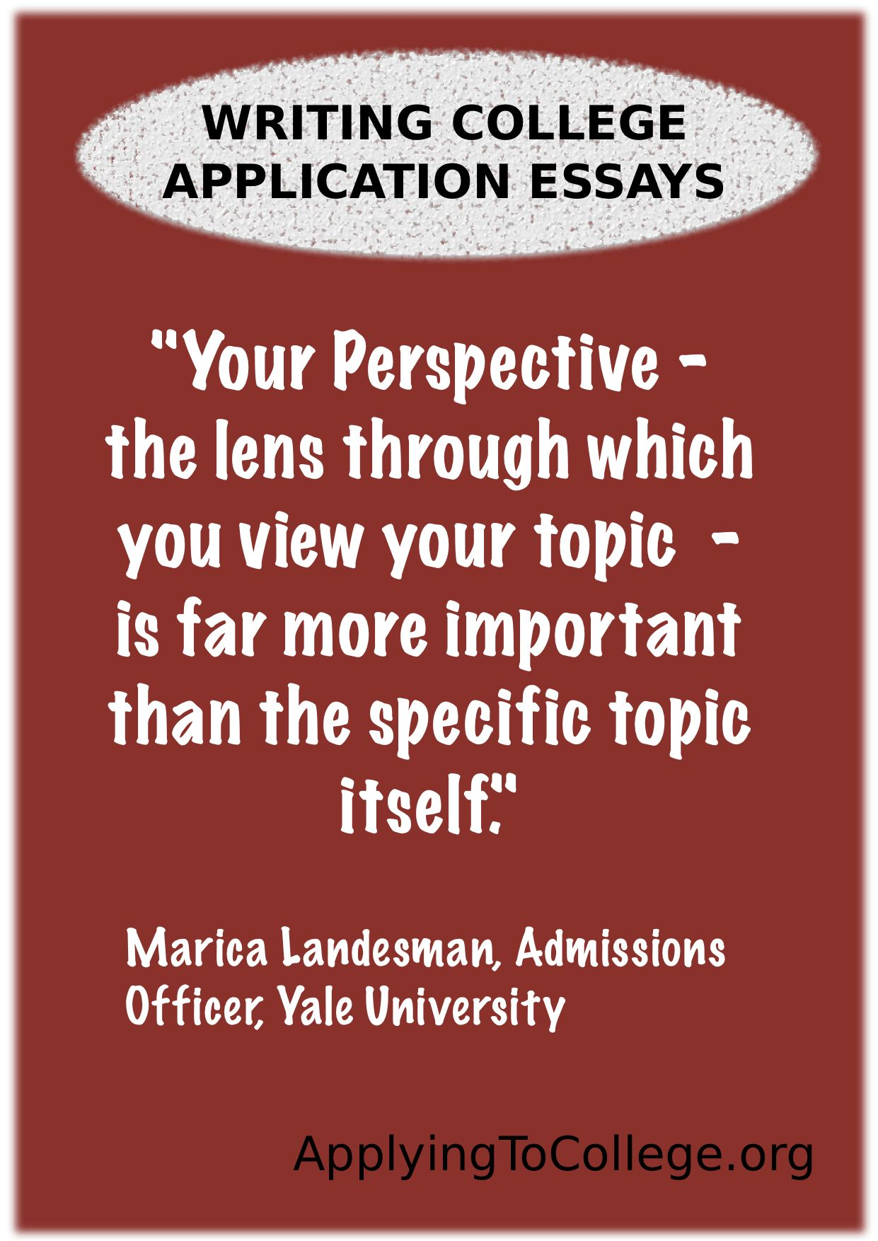 College advice the college application essay advice from yale