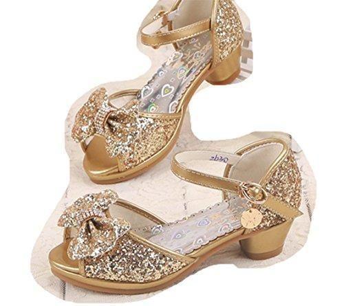 9dc80ea2 Oferta: 44.99€ Dto: -43%. Comprar Ofertas de Ohmais Sandalias de Vestido  Flat Shoes Bailarinas Princesa Zapatos con Tacón Para Niña barato.